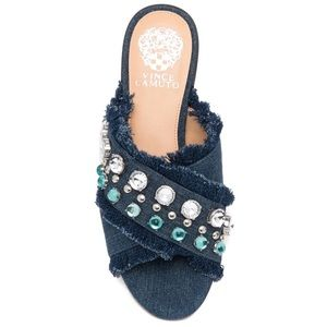 NEW Vince Camuto Noritta Denim Slide Sandal 6M